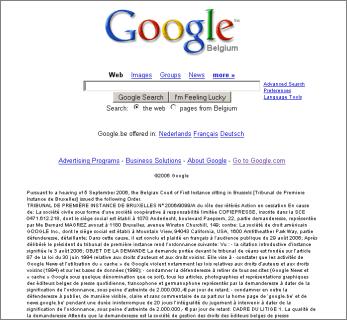 Google Belgium Order